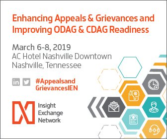 Enhancing Appeals & Grievances and Improving ODAG & CDAG Readiness AC Hotel Nashville Downtown on March 6-8, 2019